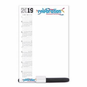 "BIC® Dry Erase Magnetic Memo Board with Marker & Clip (5 1/4""x8"")"